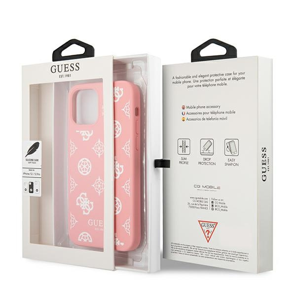 iphone 12 pro - guess guhcp12mlspewpi apple iphone 12/12 pro pink hard case peony collection - 8 - krytaren.sk
