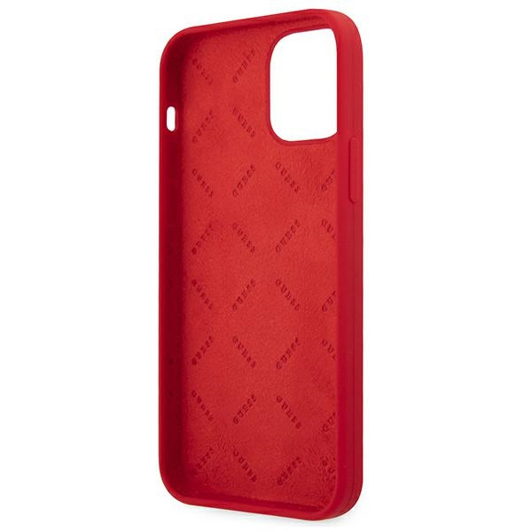 iphone 12 pro - guess guhcp12mlspewre apple iphone 12/12 pro red hard case peony collection - 7 - krytaren.sk