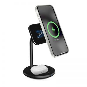 Mounts - PURO Fast Charger 2in1 Mag Charging Stand - 1 - krytaren.sk
