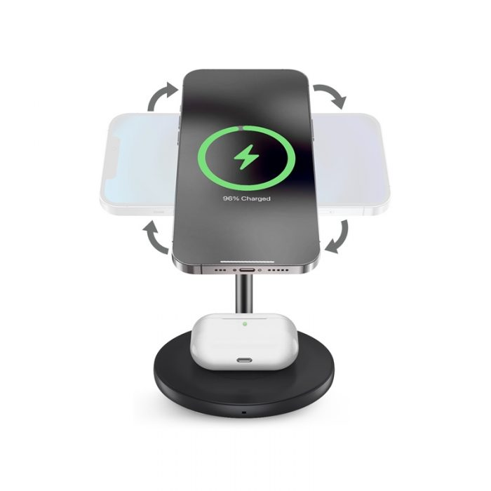 mounts - puro fast charger 2in1 mag charging stand - 2 - krytaren.sk