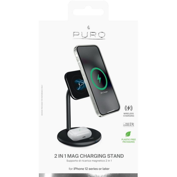 mounts - puro fast charger 2in1 mag charging stand - 5 - krytaren.sk