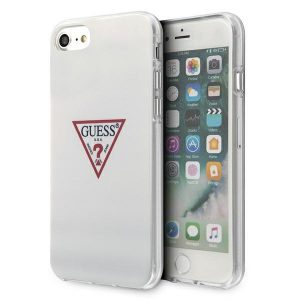 iPhone SE 2020 - Guess GUHCI8PCUCTLWH iPhone 7/8/SE 2020 biały/white hardcase Triangle Collection - 1 - krytaren.sk