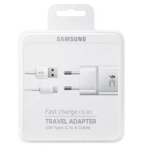 Wall Chargers - Samsung Charger EP-TA20EWEC blister fast charge USB-C white - 1 - krytaren.sk