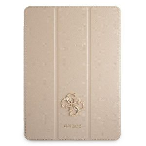 iPad Pro 12.9 - Guess GUIC12PUSASGO Apple iPad Pro 12.9 2021 Book Cover gold Saffiano Collection - 1 - krytaren.sk