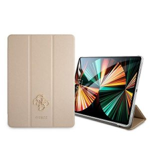 iPad Pro 12.9 - Guess GUIC12PUSASGO Apple iPad Pro 12.9 2021 Book Cover gold Saffiano Collection - 2 - krytaren.sk