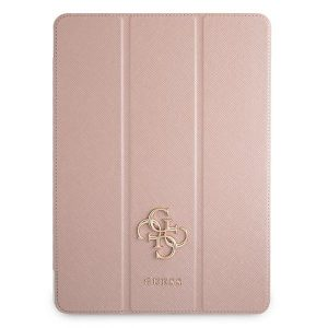 iPad Pro 12.9 - Guess GUIC12PUSASPI Apple iPad Pro 12.9 2021 Book Cover pink Saffiano Collection - 1 - krytaren.sk