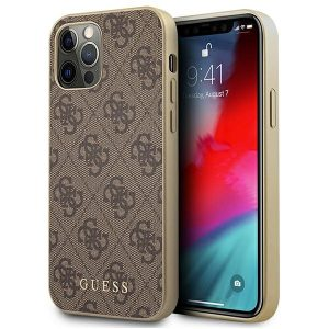 iPhone 12 Pro - Guess GUHCP12MG4GB Apple iPhone 12/12 Pro brown hard case 4G Collection - 1 - krytaren.sk