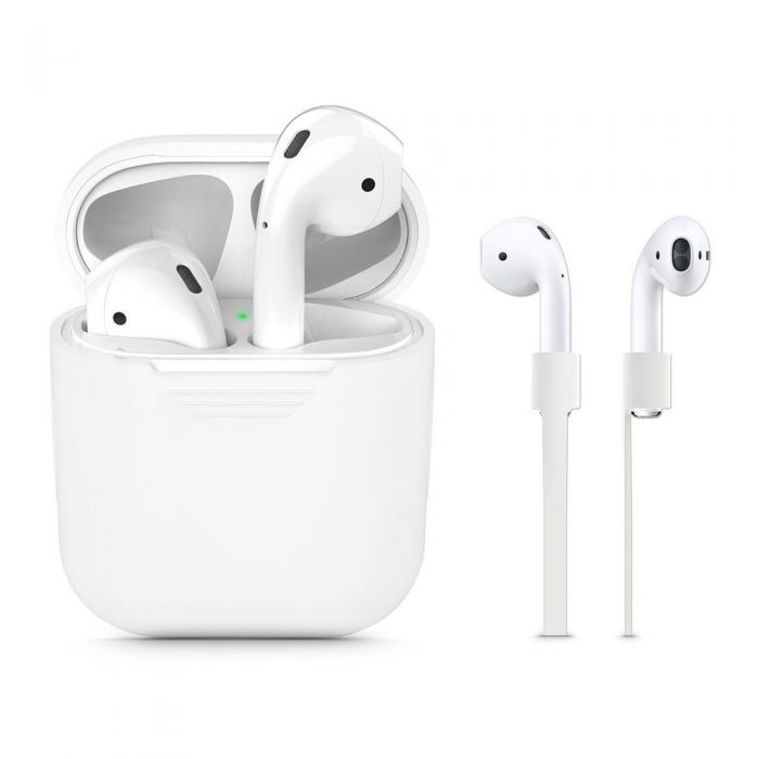 airpods - tech-protect iconset apple airpods white - 1 - krytaren.sk