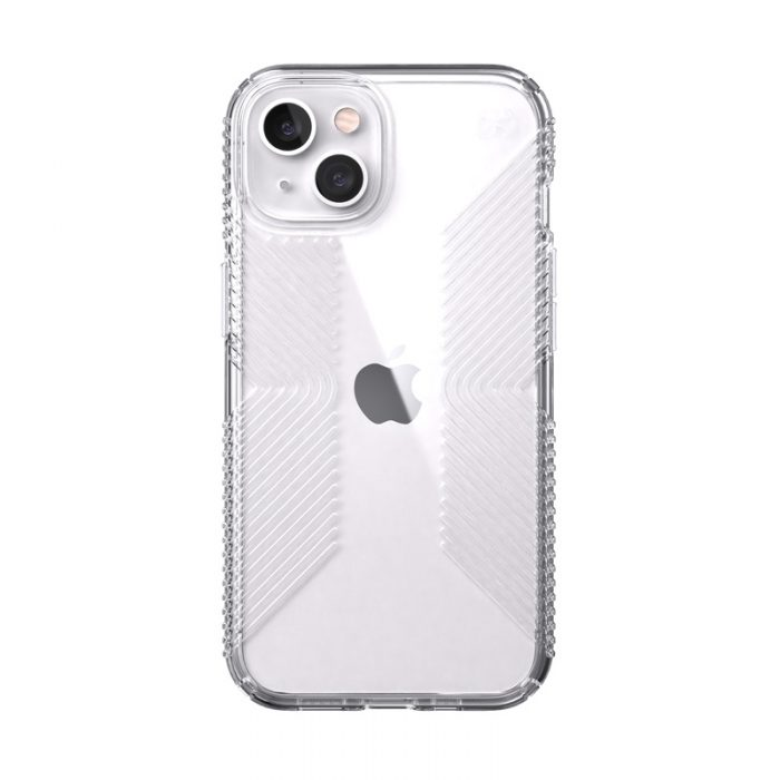 speck presidio perfect-clear grips microban apple iphone 13 (clear) - export 10509