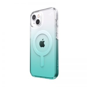 iPhone 13 - Speck Presidio Perfect-Clear Ombre MagSafe MICROBAN Apple iPhone 13 (Clear/Fantasy Teal Fade) - 1 - krytaren.sk