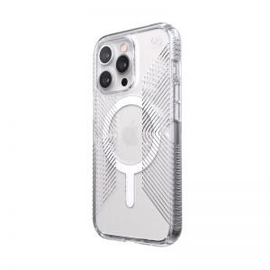 iPhone 13 Pro - Speck Presidio Perfect-Clear Grips MagSafe MICROBAN Apple iPhone 13 Pro (Clear) - 1 - krytaren.sk