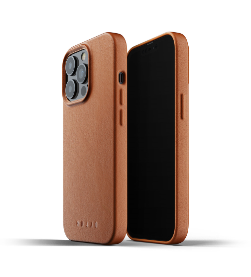 iphone 13 pro max - mujjo full leather case apple iphone 13 pro max (brown) - 1 - krytaren.sk