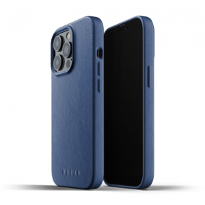 iPhone 13 Pro Max - Mujjo Full Leather Case Apple iPhone 13 Pro Max (blue) - 1 - krytaren.sk