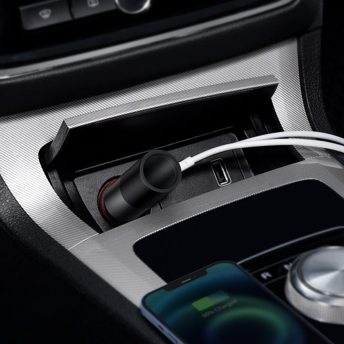 car chargers - baseus share together fast charge car charger with cigarette lighter expansion port