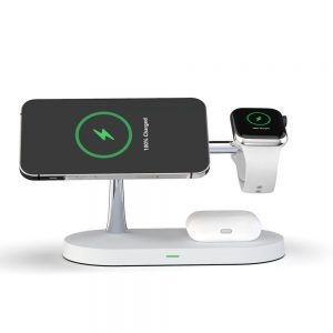 Wireless chargers - Tech-protect A12 3in1 Magnetic Magsafe Wireless Charger White - 2 - krytaren.sk