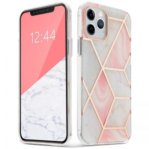 iPhone 12 Pro - Tech-protect Marble 2 Apple iPhone 12/12 Pro Pink - 1 - krytaren.sk