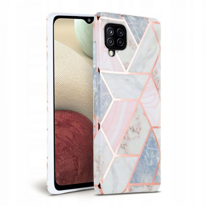 more a series - tech-protect marble samsung galaxy a12 pink - 1 - krytaren.sk