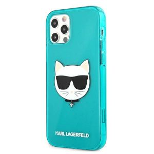 iPhone 12 Pro Max - Karl Lagerfeld KLHCP12LCHTRB Apple iPhone 12 Pro Max blue hardcase Glitter Choupette Fluo - 2 - krytaren.sk