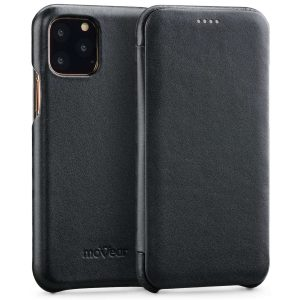 iPhone 11 Pro Max - moVear flipSide S Apple iPhone 11 Pro Max Smooth Leather Black - 1 - krytaren.sk