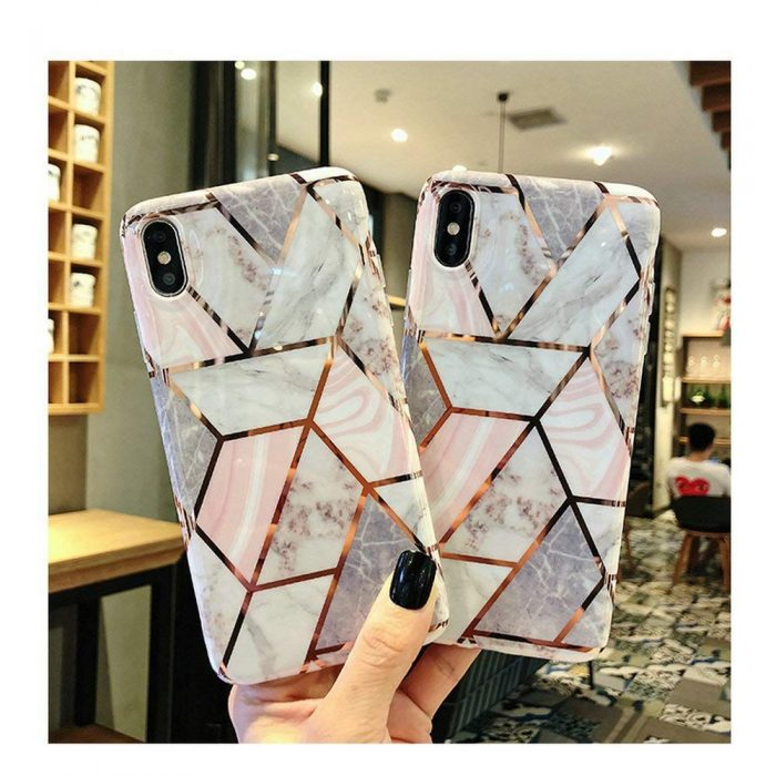 iphone se 2020 - tech-protect marble apple iphone se 2020/8/7 pink - 2 - krytaren.sk