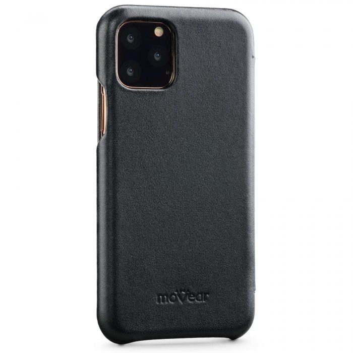 iphone 11 pro max - movear flipside s apple iphone 11 pro max smooth leather black - 3 - krytaren.sk