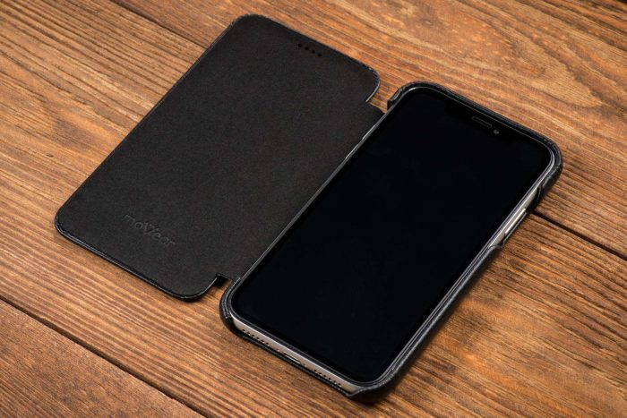iphone 11 pro max - movear flipside s apple iphone 11 pro max smooth leather black - 6 - krytaren.sk