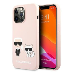 iPhone 13 Pro Max - Karl Lagerfeld KLHCP13XSSKCI Apple iPhone 13 Pro Max hardcase light pink Silicone Karl & Choupette - 1 - krytaren.sk