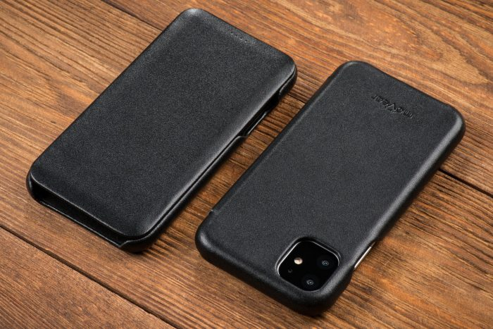 movear flipside s apple iphone 11 pro max smooth leather black - export 99