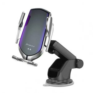 Mounts - Tech-protect R2 Car Mount Wireless Charger Silver - 1 - krytaren.sk