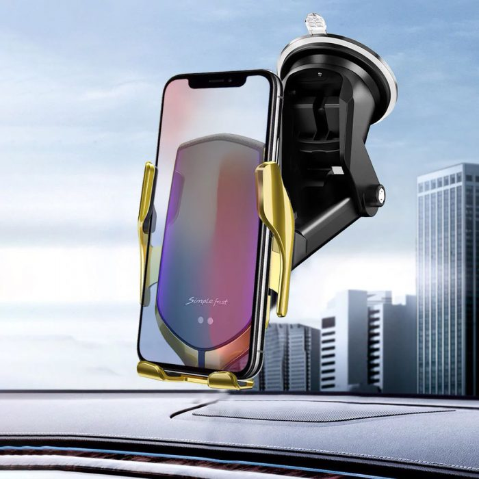 mounts - tech-protect r2 car mount wireless charger silver - 3 - krytaren.sk
