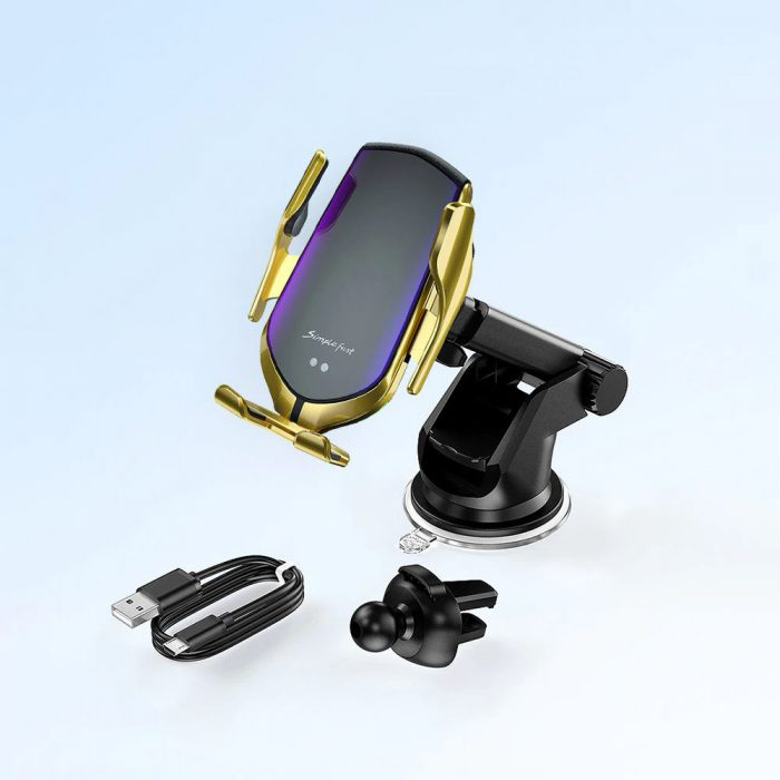 mounts - tech-protect r2 car mount wireless charger silver - 8 - krytaren.sk