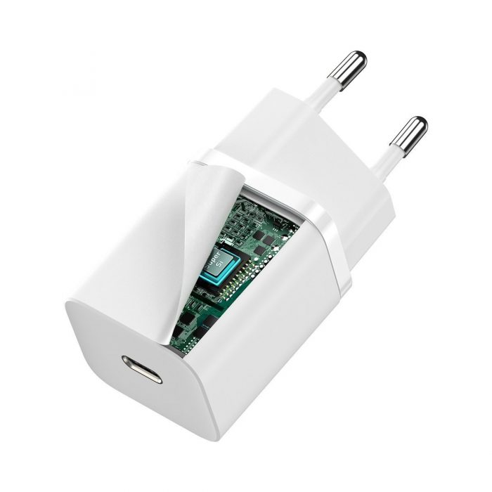 wall chargers - baseus super si quick charger 1c 30w (white) - 5 - krytaren.sk