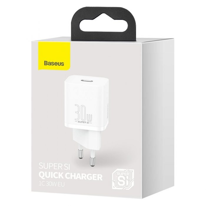 wall chargers - baseus super si quick charger 1c 30w (white) - 10 - krytaren.sk