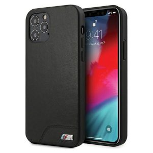 iPhone 12 Pro Max - BMW BMHCP12LMHOLBK Apple iPhone 12 Pro Max black hardcase M Collection Smooth PU - 1 - krytaren.sk