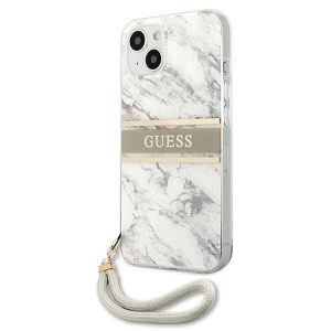 iPhone 13 - Guess GUHCP13MKMABGR Apple iPhone 13 grey hardcase Marble Strap Collection - 2 - krytaren.sk