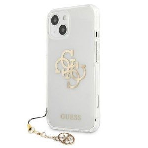iPhone 13 - Guess GUHCP13MKS4GGO Apple iPhone 13 Transparent hardcase 4G Gold Charms Collection - 2 - krytaren.sk