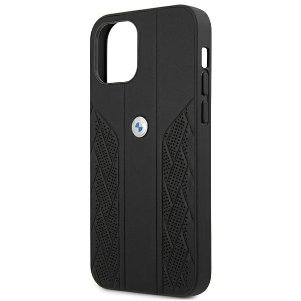 iphone 12 pro max - bmw bmhcp12lrsppk apple iphone 12 pro max black hardcase leather curve perforate - 6 - krytaren.sk