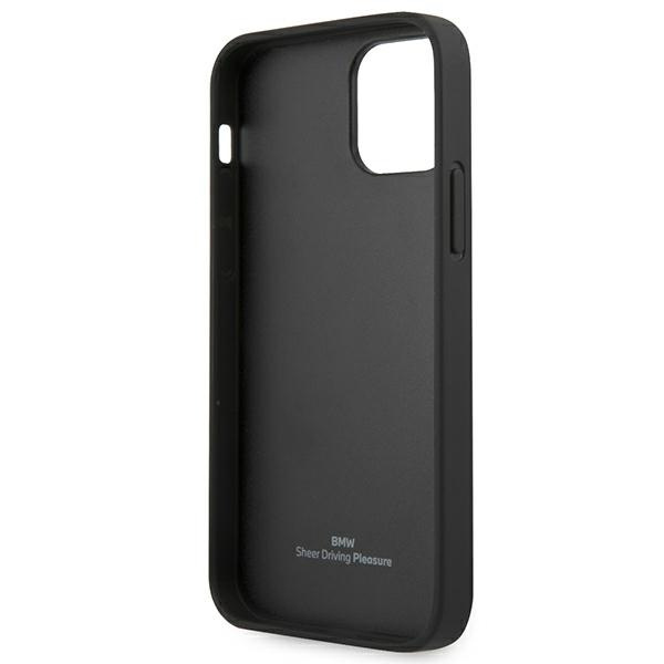 iphone 12 pro max - bmw bmhcp12lrsppk apple iphone 12 pro max black hardcase leather curve perforate - 7 - krytaren.sk