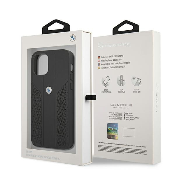 iphone 12 pro max - bmw bmhcp12lrsppk apple iphone 12 pro max black hardcase leather curve perforate - 8 - krytaren.sk