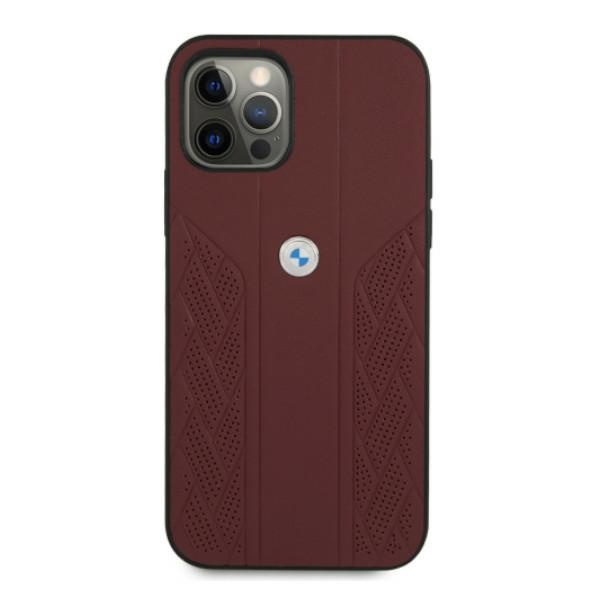 iphone 12 pro max - bmw bmhcp12lrsppr apple iphone 12 pro max red hardcase leather curve perforate - 3 - krytaren.sk