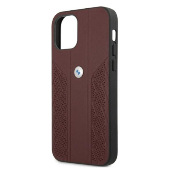 iphone 12 pro max - bmw bmhcp12lrsppr apple iphone 12 pro max red hardcase leather curve perforate - 6 - krytaren.sk