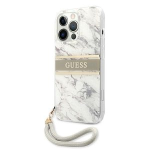 iPhone 13 Pro Max - Guess GUHCP13XKMABGR Apple iPhone 13 Pro Max grey hardcase Marble Strap Collection - 2 - krytaren.sk