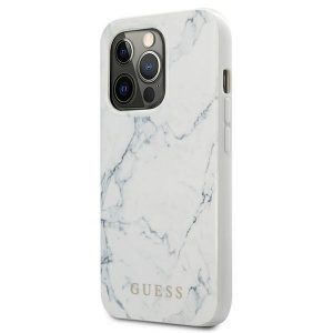 iPhone 13 Pro Max - Guess GUHCP13XPCUMAWH Apple iPhone 13 Pro Max white hardcase Marble - 2 - krytaren.sk