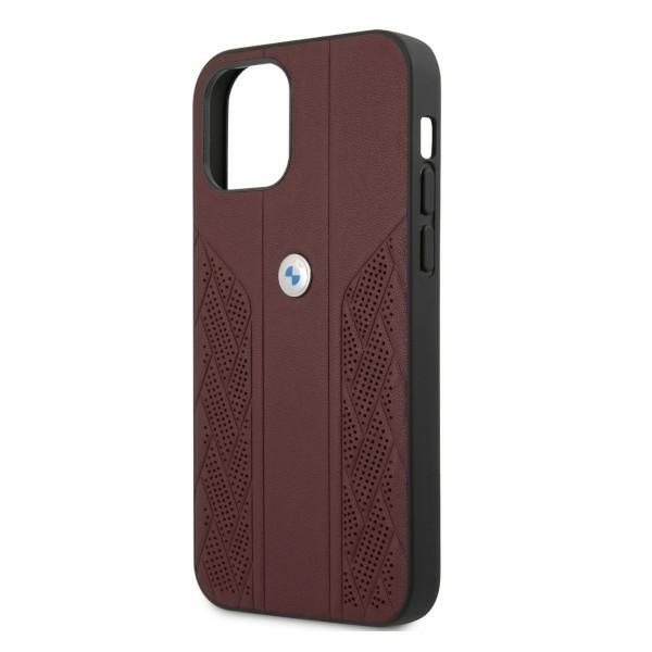 iphone 12 pro - bmw bmhcp12mrsppr apple iphone 12/12 pro red hardcase leather curve perforate - 6 - krytaren.sk