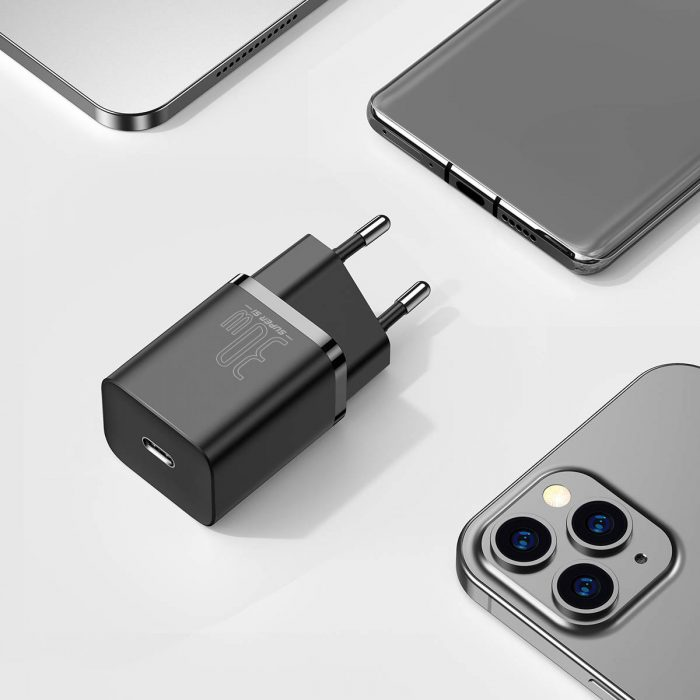 wall chargers - baseus super si quick charger 1c 30w (black) - 8 - krytaren.sk