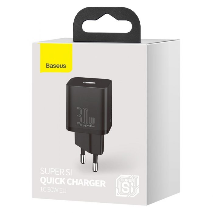 wall chargers - baseus super si quick charger 1c 30w (black) - 10 - krytaren.sk